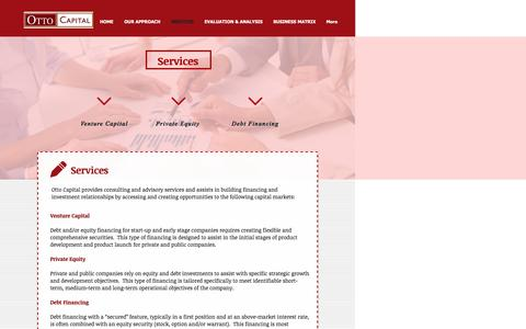 Screenshot of Services Page ottocapital.com - ottocapital2 | SERVICES - captured Nov. 30, 2016