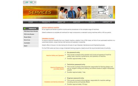 Screenshot of Services Page getecha.com - GETECH Automation Pte Ltd - captured Oct. 2, 2014