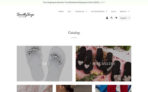 Screenshot of Products Page sandbysaya.com - Collections – Sand By Saya - captured July 27, 2018