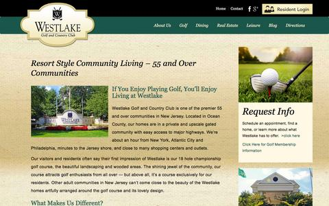 Screenshot of About Page westlakegcc.com - 55 and Over Communities | Adult Communities in New Jersey | Country Club Lifestyle | Westlake Golf & Country Club, NJ - captured Feb. 14, 2016