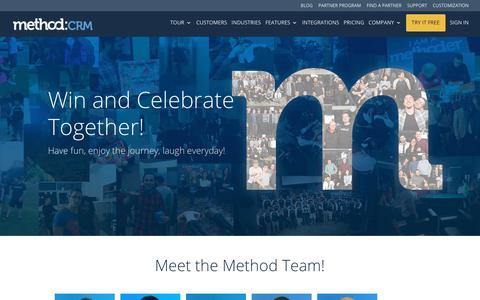 Screenshot of Team Page method.me - About Us - Meet the Team | Method:CRM - captured Feb. 13, 2019