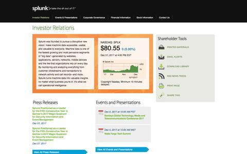 Investor Relations | Splunk Inc.