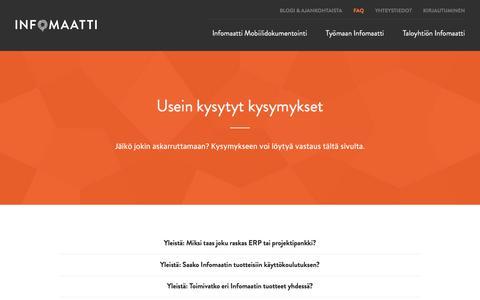 Screenshot of FAQ Page infomaatti.fi - Infomaatti - captured Sept. 24, 2018