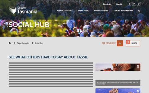 Screenshot of Home Page discovertasmania.com.au - Social Hub - Discover Tasmania - captured Aug. 8, 2015