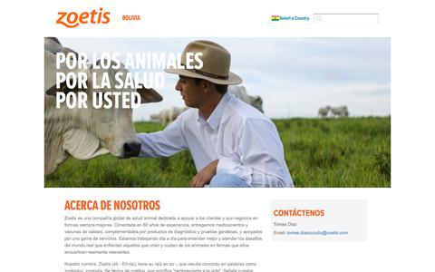 Screenshot of Home Page zoetis.com.bo - Bolivia | Zoetis BO - captured Aug. 14, 2019