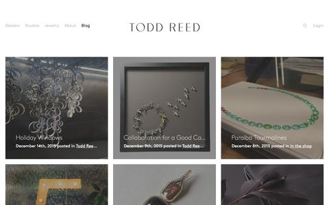Screenshot of Blog toddreed.com - Blog – Todd Reed – Raw Elegance - captured Dec. 15, 2015