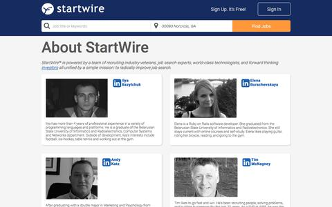 Screenshot of About Page startwire.com - StartWire - captured April 25, 2018