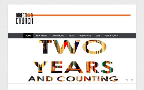 Screenshot of Home Page Menu Page dchurchorlando.org - Direction Church Orlando - 7039 Grand National Drive Suite 101, Orlando, FL 32819 - captured Oct. 5, 2014