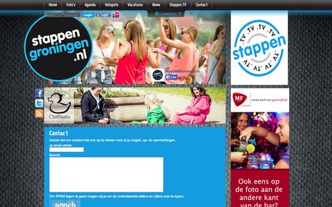 Screenshot of Contact Page stappengroningen.nl - Contact | StappenGroningen.nl - captured Oct. 7, 2014