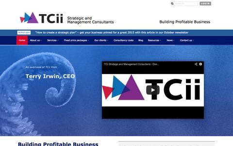 Screenshot of Home Page tcii.co.uk - Profitable Business Growth | Sustainable Growth | Strategic Advice | TCii London - captured Oct. 9, 2014