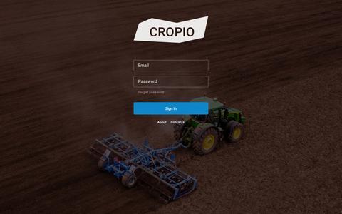 Screenshot of Home Page cropio.com - cropio — amazing field management and vegetation control system - captured Oct. 30, 2018