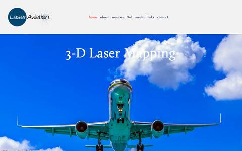 Screenshot of Home Page laseraviation.com - Laser Aviation - captured July 6, 2017