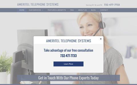 Screenshot of Home Page ameritelnj.com - Ameritel Telephone Systems | Brick, NJ - captured Oct. 8, 2017