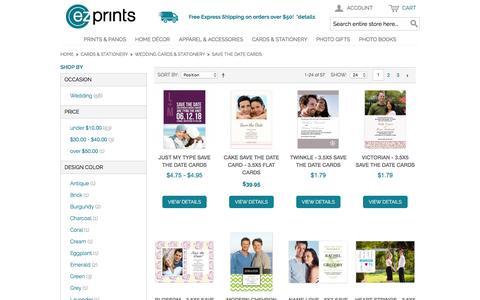 Screenshot of ezprints.com - Save the Date Cards   Wedding Announcements   Custom Save the Date Cards - captured March 19, 2016