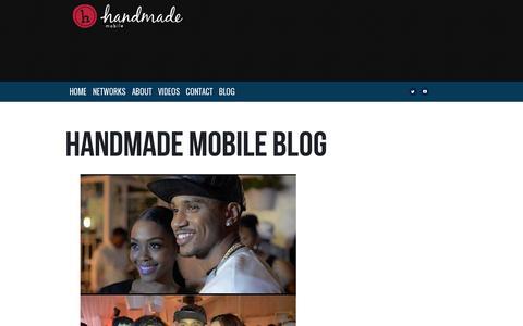 Screenshot of Blog handmademobile.com - Handmade Mobile Blog – Handmade Mobile Entertainment - captured July 18, 2014
