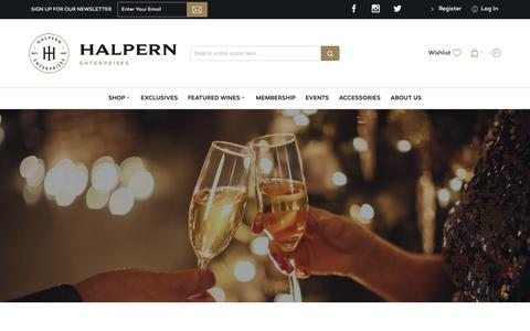 Screenshot of Home Page halpernwine.com - Halpern Homepage - captured Sept. 26, 2018