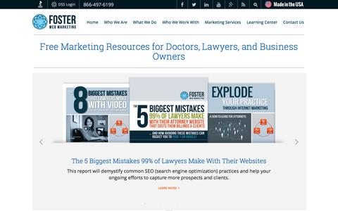 Marketing Resources for Doctors, Lawyers & Businesses | Foster Web Marketing