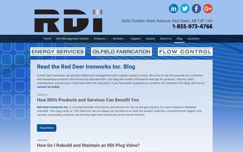 Screenshot of Blog rdironworks.com - Blog | Red Deer Ironworks Inc. - captured Oct. 27, 2017
