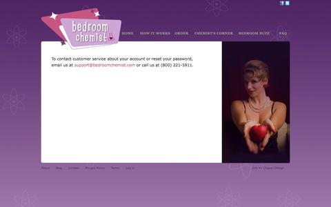 Screenshot of Login Page bedroomchemist.com - Contact Customer Service | Bedroom Chemist - captured Nov. 3, 2014