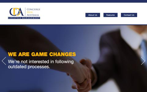 Screenshot of Home Page conciergedesk.com.au - Concierge Desk - captured Sept. 29, 2018