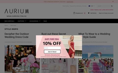 Screenshot of Blog aurium.com.au - Style Inspo – Aurium Boutique - captured Dec. 18, 2018