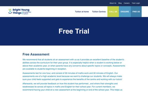 Screenshot of Trial Page brightyoungthings.co.uk - Free Trial - captured Feb. 11, 2019