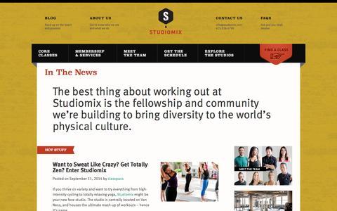 Screenshot of Press Page studiomix.com - In The News » STUDIOMIX - captured Oct. 9, 2014