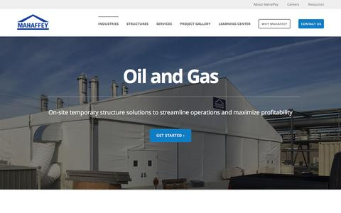 Screenshot of mahaffeyusa.com - Oil and Gas - captured March 20, 2016