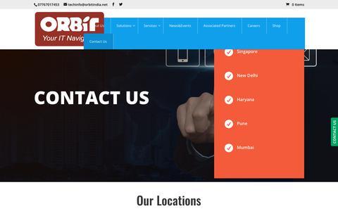 Screenshot of Contact Page orbitindia.net - Contact Us - ORBIT TECHSOL - captured Dec. 21, 2018