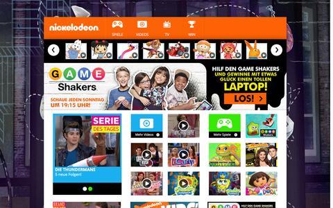 Screenshot of Home Page nick.de - Offizielle Nickelodeon Startseite - Nick.de - captured Feb. 1, 2016