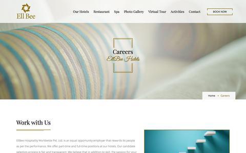 Screenshot of Jobs Page ellbeehotels.com - Careers | EllBee Hotels - captured July 17, 2018