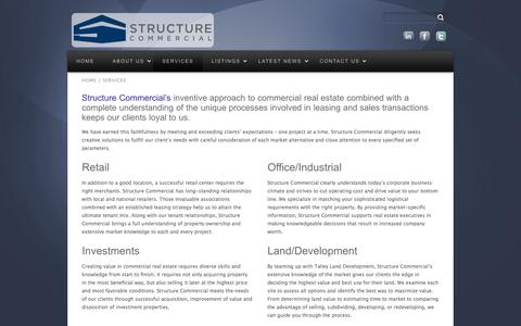 Screenshot of Services Page structurecommercial.com - Services | Structure Commercial - captured Oct. 8, 2014
