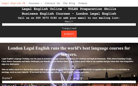 Screenshot of Home Page legalenglish.co.uk - Legal English for Lawyers   Legal English UK - captured Nov. 22, 2018