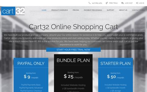 Screenshot of Home Page cart32.com - Online Shopping Cart Software » Cart32 - captured Sept. 30, 2014