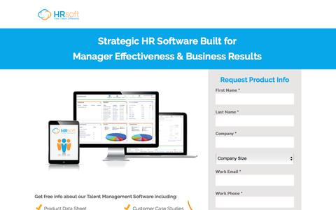 Screenshot of Landing Page hrsoft.com - Talent Management Software by HRsoft - captured March 1, 2018