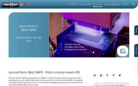 Screenshot of Products Page nanion.de - SyncroPatch 384PE - captured Oct. 18, 2018