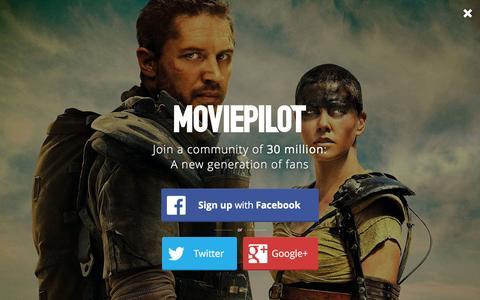 Screenshot of Login Page moviepilot.com - A New Generation of Fans | moviepilot.com - captured Jan. 22, 2016