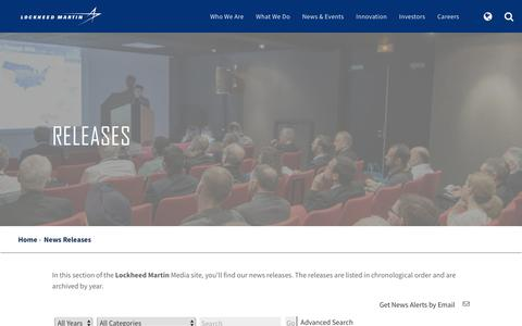 Media - Lockheed Martin - Releases