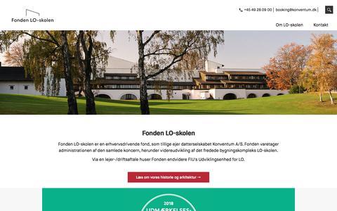 Screenshot of Menu Page loskolen.dk - Forside - LO-skolen - captured July 22, 2018