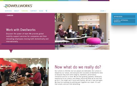 Screenshot of Jobs Page dwellworks.com - Careers | Global Mobility Support Services | Dwellworks - captured Nov. 23, 2016