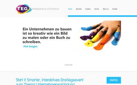 Screenshot of Home Page teg-ev.de - TEG   the entrepreneurial group e.V. - TEG e.V. - captured Oct. 6, 2014