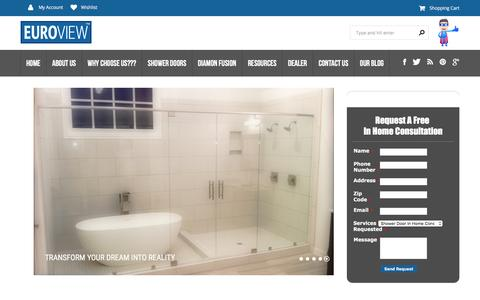 Screenshot of Home Page Site Map Page euroviewinc.com - Euroview Inc | Shower Doors, Custom Closets, Office Partitions, Framed Mirrors & More - captured Dec. 12, 2015