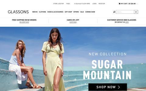 Screenshot of Home Page glassons.com - Glassons - Womens Fashion - captured Dec. 22, 2015