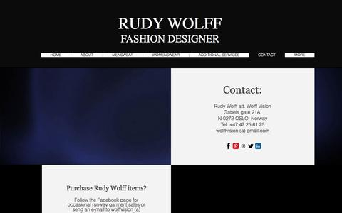 Screenshot of Contact Page rudywolff.com - CONTACT - captured June 15, 2017