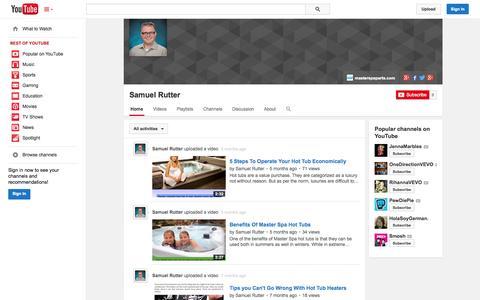Screenshot of YouTube Page youtube.com - Samuel Rutter  - YouTube - captured Oct. 27, 2014