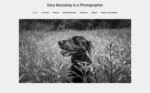 Screenshot of Menu Page mulcahey.com - Gary Mulcahey's Portfolio - Menu - captured Feb. 16, 2016