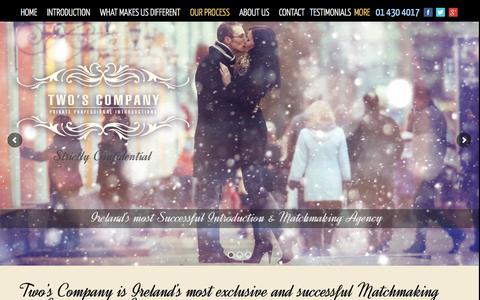 Screenshot of Home Page twoscompany.ie - Two's Company -Two's Company - captured Jan. 12, 2016