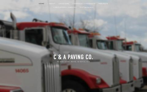 Screenshot of Home Page capaving.com - C & A Paving Co. - captured Jan. 7, 2016