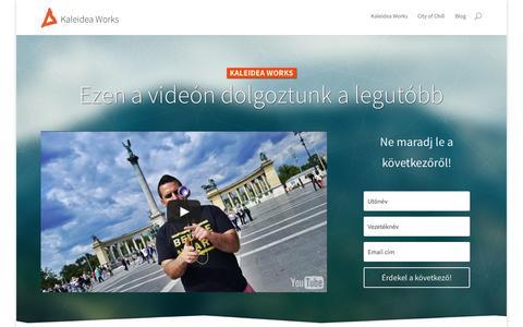 Screenshot of Home Page kaleidea.hu - Videókat készítünk és élvezzük - Kaleidea Works - captured Sept. 6, 2015