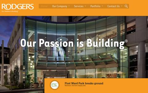 Screenshot of Home Page rodgersbuilders.com - Rodgers Builders - captured Oct. 7, 2014